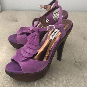 Steve Madden Leather Platform Heels Trufle 7.5